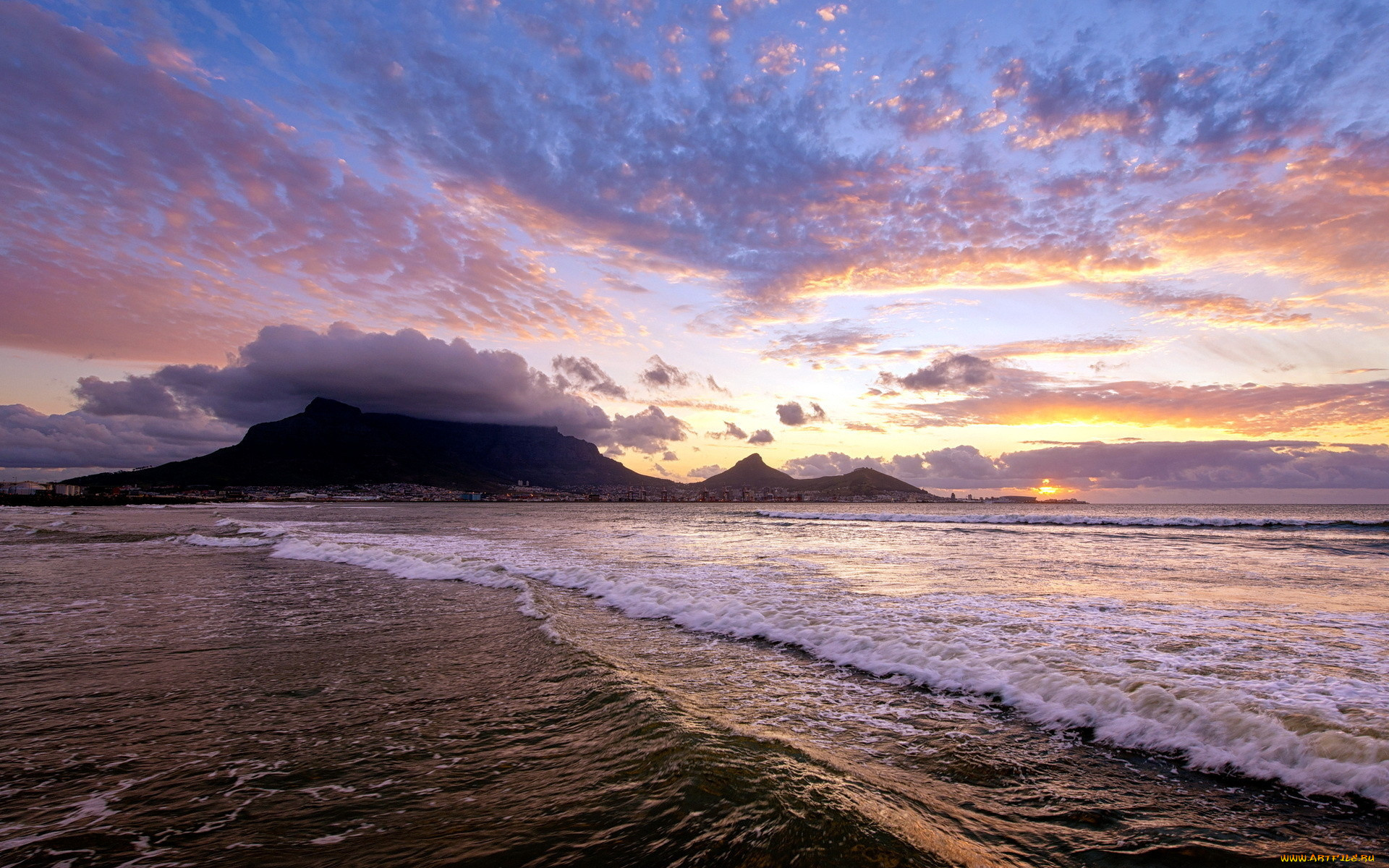 фото морского заката в высоком качестве для